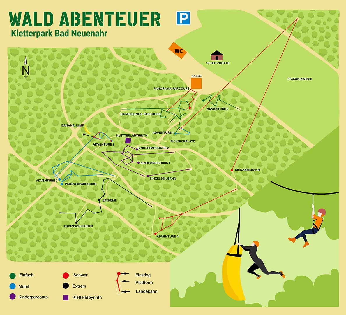 Wald-Abenteuer Parkplan Bad Neuenahr-Ahrweiler