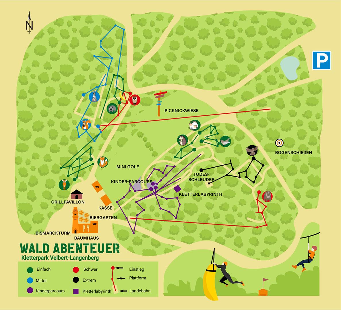 Wald-Abenteuer Parkplan Velbert